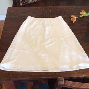 J Jill white cotton tee soft summer skirt